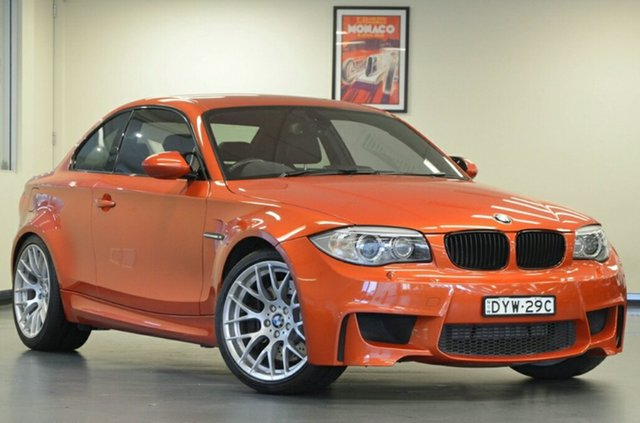 Used BMW 1M E82 LCI MY11 , 2011 BMW 1M E82 LCI MY11 Valencia Orange 6 Speed Manual Coupe