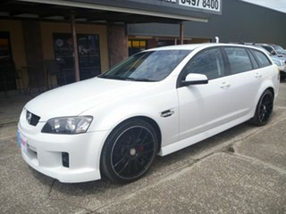 2010 Holden Commodore VE MY10 SV6 Sportwagon White 6 Speed Automatic Wagon.