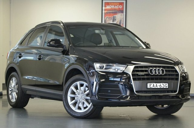 Used Audi Q3 8U MY16 TDI S Tronic Quattro, 2016 Audi Q3 8U MY16 TDI S tronic quattro Black 7 Speed Sports Automatic Dual Clutch Wagon