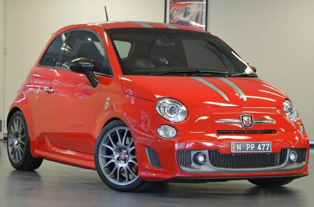 Used Abarth 695 Series 1 Tributo Ferrari MTA, 2012 Abarth 695 Series 1 Tributo Ferrari MTA Rosso Corsa 5 Speed Seq Manual Auto-Clutch Hatchback