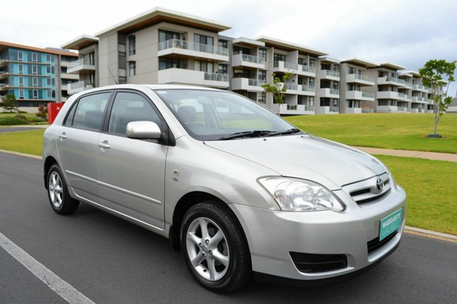 Used Toyota Corolla ZZE122R 5Y Conquest, 2005 Toyota Corolla ZZE122R 5Y Conquest Silver 5 Speed Manual Hatchback