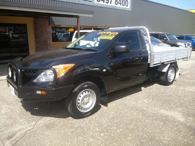 Used Mazda BT-50 UP0YD1 XT 4x2, 2012 Mazda BT-50 UP0YD1 XT 4x2 Black 6 Speed Manual Cab Chassis