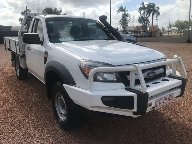Used Ford Ranger PK XL (4x4), 2009 Ford Ranger PK XL (4x4) White 5 Speed Manual Cab Chassis