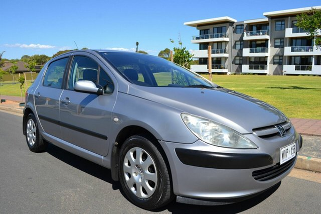 Used Peugeot 307 T5 MY03 XS, 2003 Peugeot 307 T5 MY03 XS Silver 5 Speed Manual Hatchback
