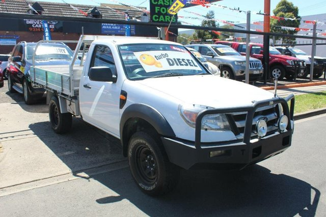 Used Ford Ranger PK XL (4x4), 2010 Ford Ranger PK XL (4x4) White 5 Speed Manual Cab Chassis