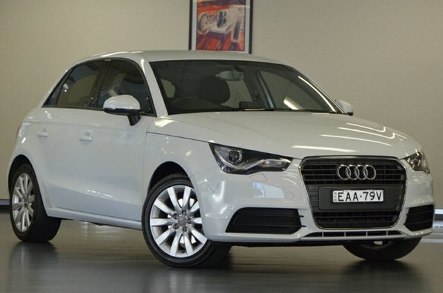 Used Audi A1 8X MY14 Attraction Sportback, 2014 Audi A1 8X MY14 Attraction Sportback White Semi Auto Hatchback