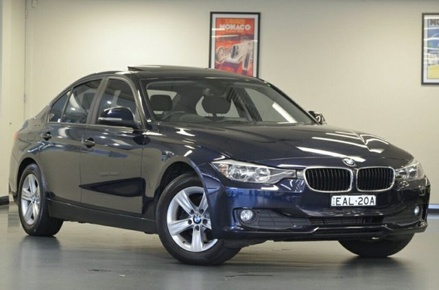 Used BMW 318d F30 MY1112 , 2013 BMW 318d F30 MY1112 Imperial Blue 8 Speed Automatic Sedan