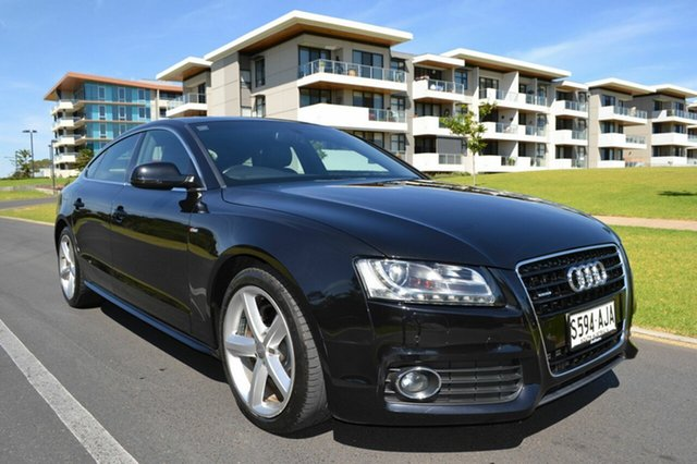 Used Audi A5 8T MY10 Sportback S Tronic Quattro, 2010 Audi A5 8T MY10 Sportback S Tronic Quattro Black 7 Speed Sports Automatic Dual Clutch Hatchback