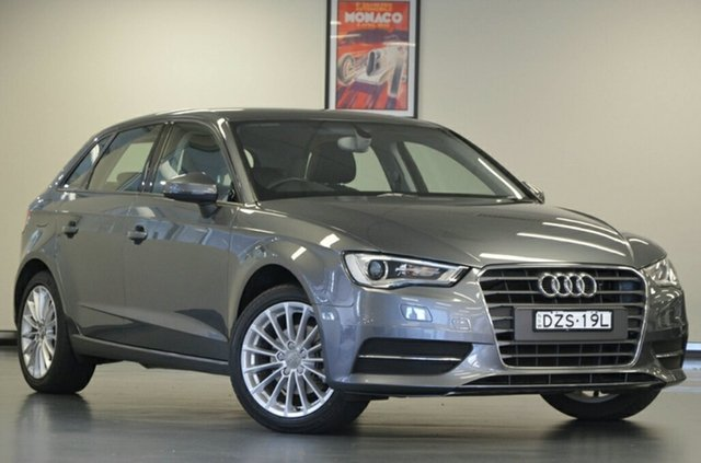 Used Audi A3 8V MY15 Attraction Sportback, 2015 Audi A3 8V MY15 Attraction Sportback Monsoon Grey Semi Auto Hatchback