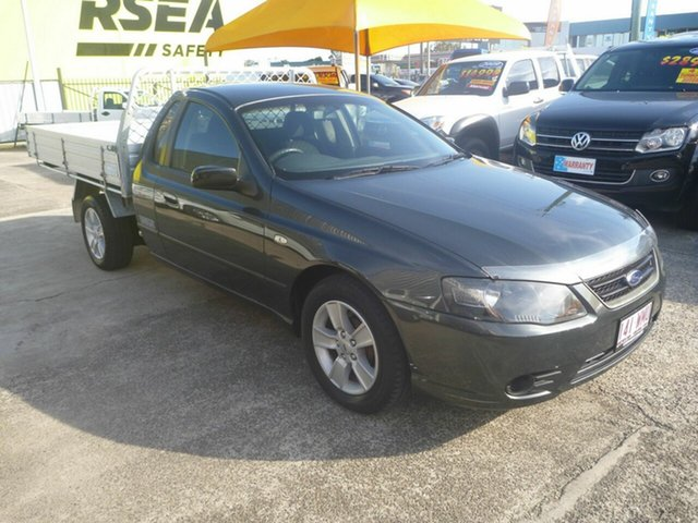 Used Ford Falcon BF Mk II XLS Super Cab, 2007 Ford Falcon BF Mk II XLS Super Cab Grey 4 Speed Sports Automatic Cab Chassis
