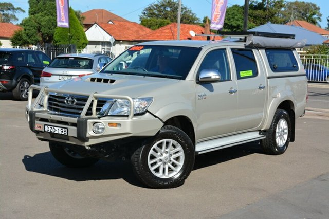 Used Toyota Hilux KUN26R MY12 SR5 Double Cab, 2013 Toyota Hilux KUN26R MY12 SR5 Double Cab Beige 5 Speed Manual Utility