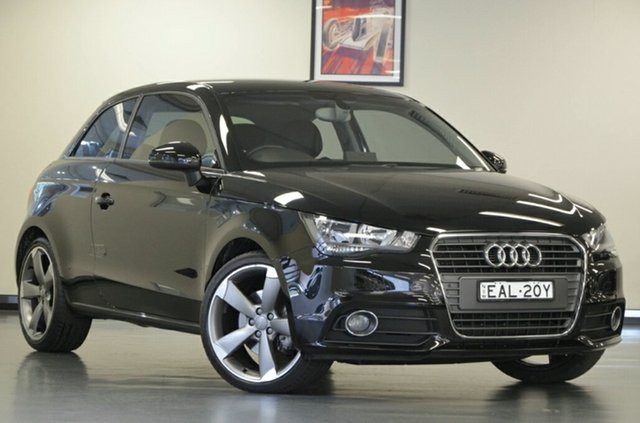 Used Audi A1 8X MY13 Ambition S Tronic, 2013 Audi A1 8X MY13 Ambition S Tronic Brilliant Black 7 Speed Sports Automatic Dual Clutch