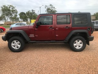 2007 Jeep Wrangler JK Unlimited Sport Red 6 Speed Manual Softtop.