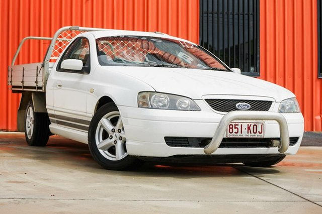 Used Ford Falcon BA Mk II XLS Super Cab, 2005 Ford Falcon BA Mk II XLS Super Cab White 4 Speed Sports Automatic Cab Chassis