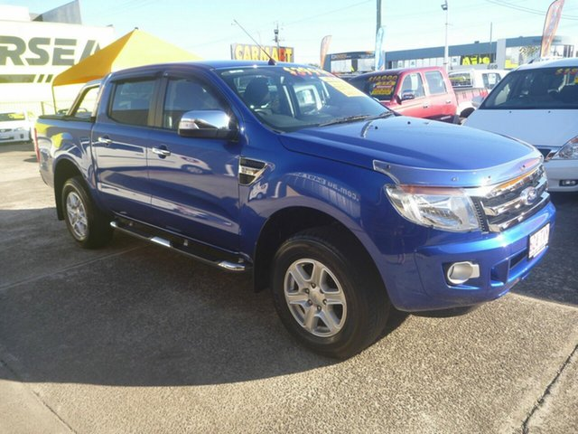 Used Ford Ranger PX XLT Double Cab, 2014 Ford Ranger PX XLT Double Cab Blue 6 Speed Sports Automatic Utility
