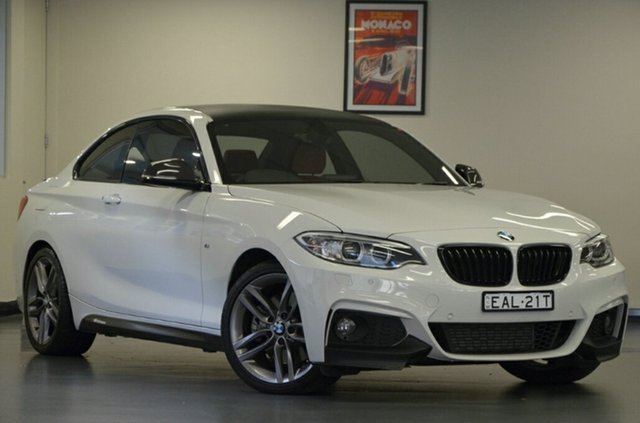 Used BMW 228i F22 M Sport, 2015 BMW 228i F22 M Sport Alpine White 8 Speed Sports Automatic Coupe
