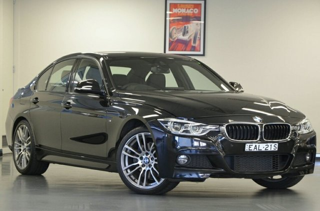 Used BMW 330i F30 LCI M Sport, 2018 BMW 330i F30 LCI M Sport Black Sapphire 8 Speed Sports Automatic Sedan