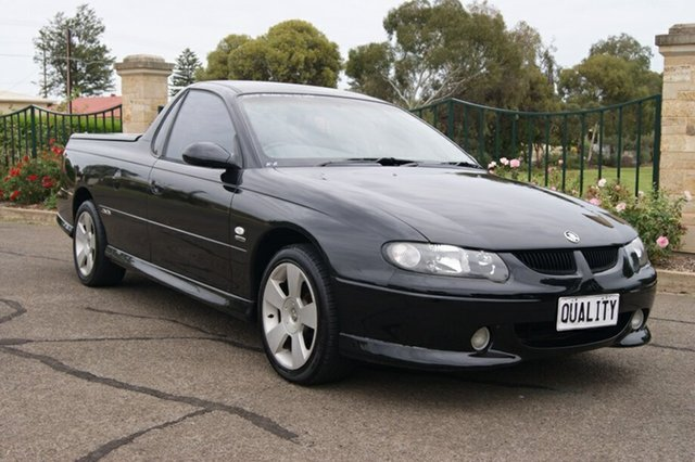 Used Holden Commodore Vuii SS, 2002 Holden Commodore Vuii SS Black 4 Speed Automatic Utility