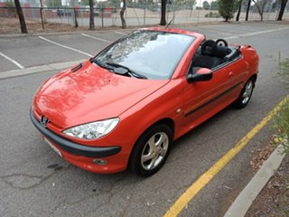 2001 Peugeot 206 T1 MY01.5 CC Red 5 Speed Manual Cabriolet