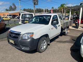 2010 Mazda BT-50 2X4 2.5 TURBO DIESEL White 5 Speed Manual Cab Chassis.