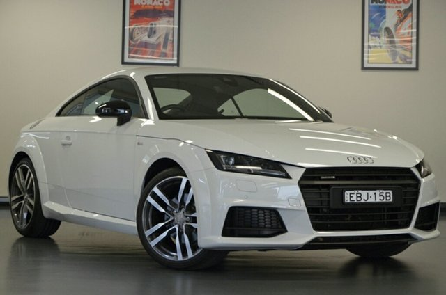Used Audi TT FV MY17 S Line S Tronic Quattro, 2017 Audi TT FV MY17 S Line S Tronic Quattro White 6 Speed Sports Automatic Dual Clutch Coupe