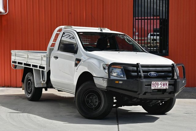 Used Ford Ranger PX XL 4x2 Hi-Rider, 2013 Ford Ranger PX XL 4x2 Hi-Rider White 6 Speed Manual Cab Chassis