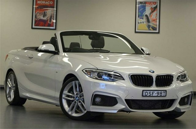 Used BMW 228i F23 M Sport, 2015 BMW 228i F23 M Sport White 8 Speed Sports Automatic Convertible