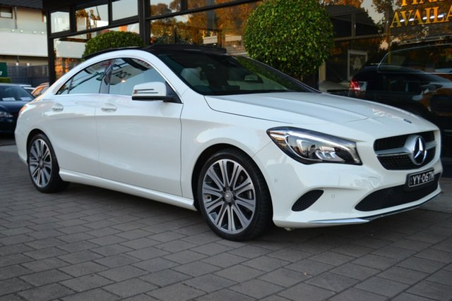 Used Mercedes-Benz CLA200 C117 807MY DCT, 2016 Mercedes-Benz CLA200 C117 807MY DCT White 7 Speed Sports Automatic Dual Clutch Coupe