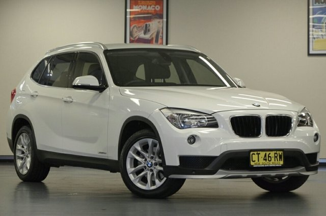 Used BMW X1 E84 MY0714 sDrive18d, 2015 BMW X1 E84 MY0714 sDrive18d Alpine White 8 Speed Sports Automatic Wagon