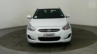 2018 Hyundai Accent 1.6 White 4 Speed Automatic Hatchback.