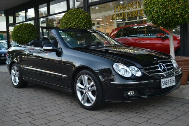 Used Mercedes-Benz CLK350 A209 MY07 Avantgarde, 2006 Mercedes-Benz CLK350 A209 MY07 Avantgarde Black 7 Speed Sports Automatic Cabriolet