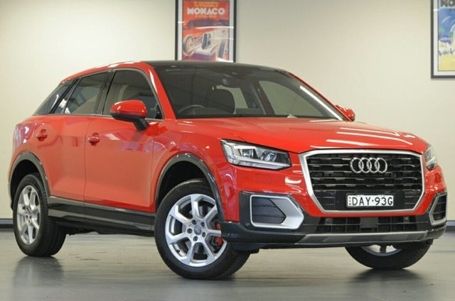 Used Audi Q2 GA MY18 design S Tronic, 2017 Audi Q2 GA MY18 design S Tronic Red 7 Speed Sports Automatic Dual Clutch Wagon