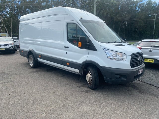 Used Ford Transit Van  High Roof LWB, 2016 Ford Transit Van JUMBO DUAL REAR High Roof LWB White 6 Speed Manual Van