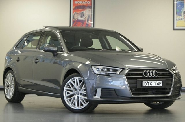 Used Audi A3 8V MY18 Sport Sportback S Tronic, 2018 Audi A3 8V MY18 Sport Sportback S Tronic Monsoon Grey 7 Speed Sports Automatic Dual Clutch