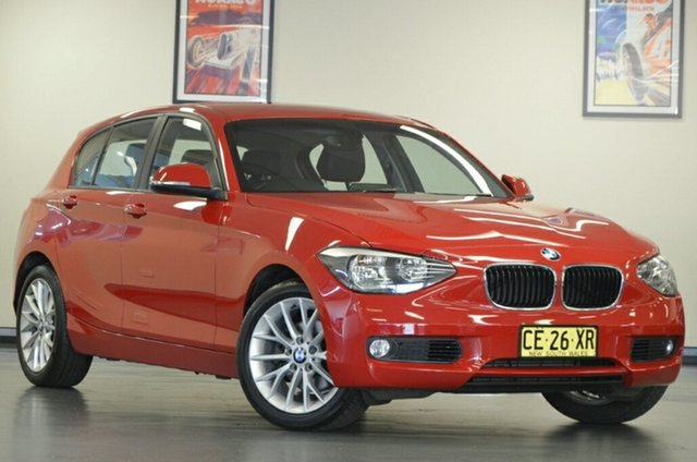 Used BMW 118i F20 MY0713 Steptronic, 2014 BMW 118i F20 MY0713 Steptronic Crimson Red 8 Speed Sports Automatic Hatchback