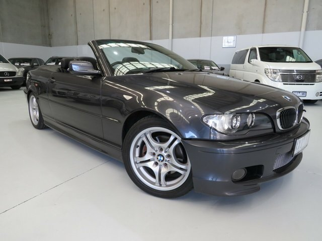 Used BMW 3 Series E46 MY05 325Ci Steptronic, 2006 BMW 3 Series E46 MY05 325Ci Steptronic Sparkling Graphite 5 Speed Sports Automatic Convertible