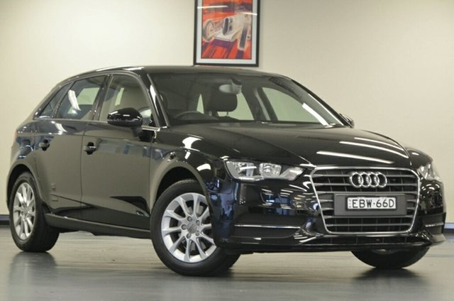 Used Audi A3 8V Attraction Sportback S Tronic, 2014 Audi A3 8V Attraction Sportback S Tronic Black 7 Speed Sports Automatic Dual Clutch Hatchback
