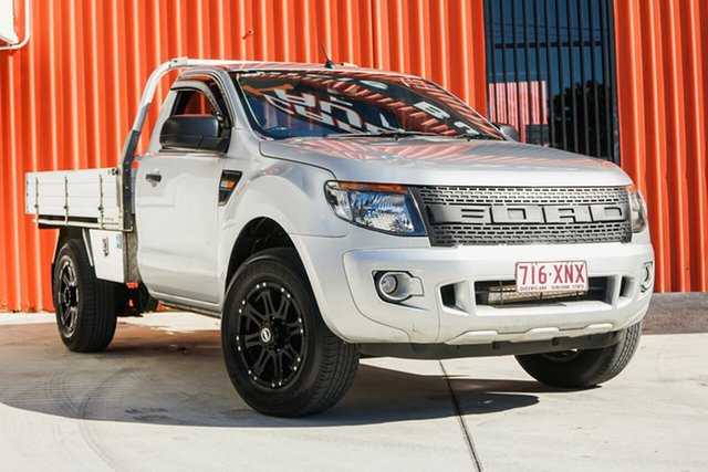 Used Ford Ranger PX XL 4x2 Hi-Rider, 2013 Ford Ranger PX XL 4x2 Hi-Rider Silver 6 Speed Manual Cab Chassis