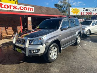 2008 Toyota Landcruiser Prado KDJ120R GXL Grey 5 Speed Automatic Wagon.