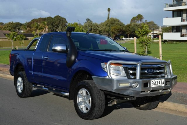Used Ford Ranger PX XLT Super Cab, 2012 Ford Ranger PX XLT Super Cab Blue 6 Speed Sports Automatic Utility