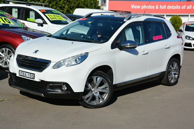 Used Peugeot 2008 A94 Outdoor, 2015 Peugeot 2008 A94 Outdoor White 5 Speed Manual Wagon
