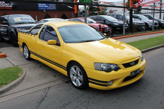 Used Ford Falcon BF XR6T, 2006 Ford Falcon BF XR6T Yellow 6 Speed Manual Utility