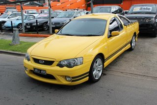 2006 Ford Falcon BF XR6T Yellow 6 Speed Manual Utility.