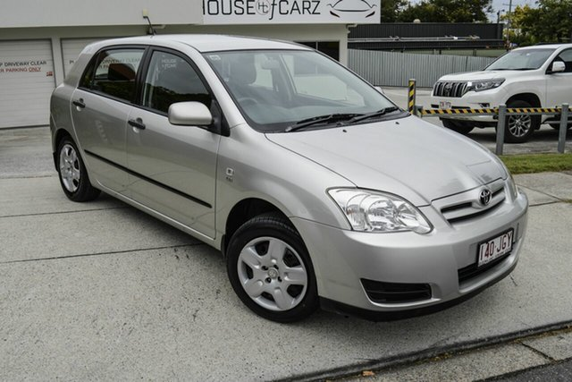 Used Toyota Corolla ZZE122R 5Y Ascent, 2006 Toyota Corolla ZZE122R 5Y Ascent Silver 4 Speed Automatic Hatchback