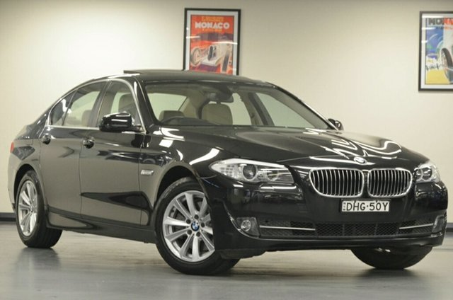 Used BMW 5 Series F10 MY1112 520d Steptronic, 2013 BMW 5 Series F10 MY1112 520d Steptronic Black 8 Speed Sports Automatic Sedan