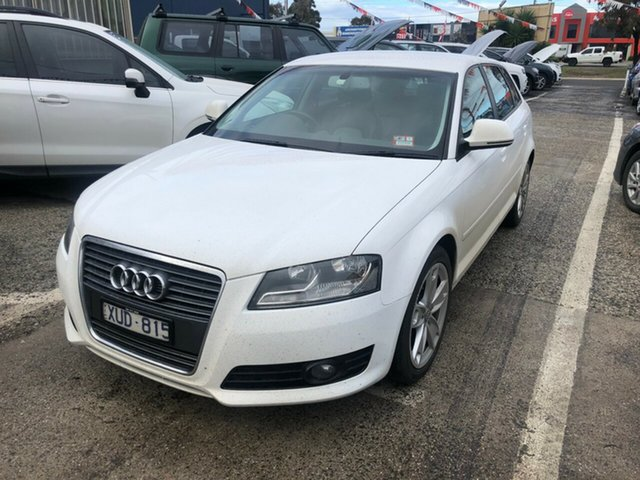 Used Audi A3 8P MY09 Sportback 1.8 TFSI Ambition, 2010 Audi A3 8P MY09 Sportback 1.8 TFSI Ambition White 7 Speed Auto Direct Shift Hatchback