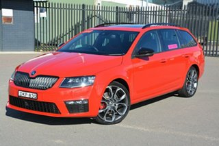 2016 Skoda Octavia NE MY16 RS DSG 135TDI Red 6 Speed Sports Automatic Dual Clutch Wagon.