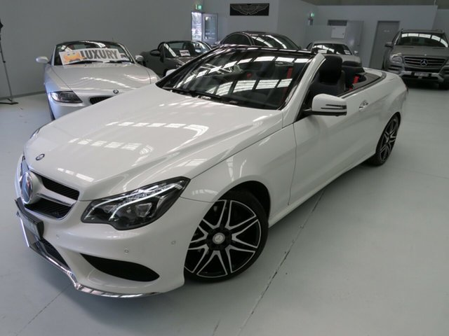 Used Mercedes-Benz E400 A207 805MY 7G-Tronic +, 2014 Mercedes-Benz E400 A207 805MY 7G-Tronic + Polar White 7 Speed Sports Automatic Cabriolet