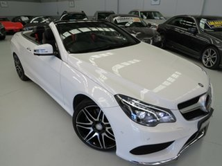 2014 Mercedes-Benz E400 A207 805MY 7G-Tronic + Polar White 7 Speed Sports Automatic Cabriolet.