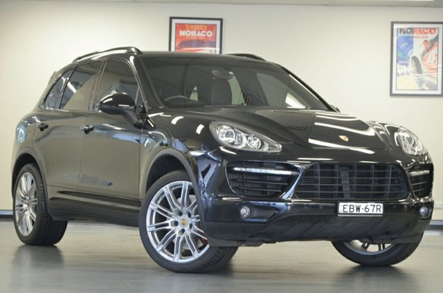 Used Porsche Cayenne 92A MY14 Turbo Tiptronic, 2014 Porsche Cayenne 92A MY14 Turbo Tiptronic Black 8 Speed Sports Automatic Wagon
